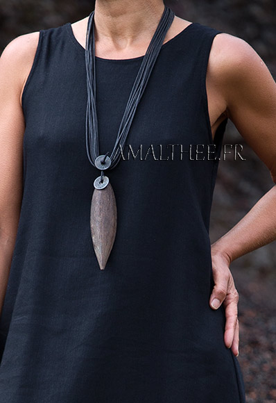 Bijou Nature : collier pirogue